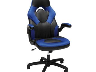 Racing Style Bonded leather Gaming Chair Blue   OFM