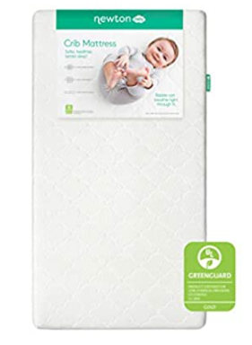 Newton Baby Crib Mattress and Toddler Bed   100  Breathable Proven to Reduce Suffocation Risk  100  Washable  2 Stage  Hypoallergenic Non Toxic Better Than Organic  Removable Cover Included  White