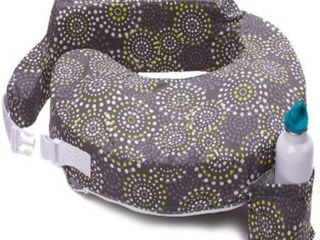 My Brest Friend Original Nursing Posture Pillow  Grey   Yellow Fireworks