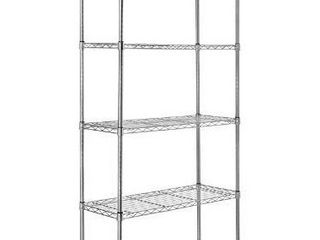 AmazonBasics 5 Shelf Adjustable  Heavy Duty Storage Shelving Unit  350 lbs loading capacity per shelf  Steel Organizer Wire Rack  Chrome   36l x 14W x 72H