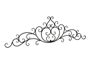 Classic Black Decorative Metal Scroll Motif Wall Hanging
