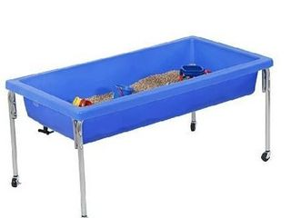 Children s Factory Extra large Activity Table and lid Set  50a by 26a by 24a  Blue a Fill with Water  Sand  Beads and More a lid for Safe  Clean Storage a Made of Durable Plastic a Indoor Outdoor Use  1150 24