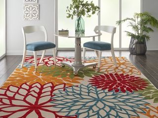Nourison Aloha Indoor outdoor Floral Green Area Rug