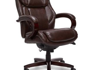 la Z Boy   leather Executive Chair   Coffee Brown