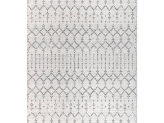 JONATHAN Y MOH101B 5 Moroccan HYPE Boho Vintage Diamond Cream Gray 5 ft  x 8 ft  Area Rug  Bohemian  Easy Cleaning  For Bedroom  Kitchen  living Room  Non Shedding