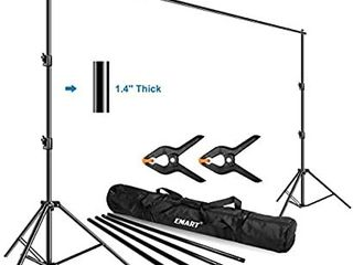 Emart Photo Video Studio Backdrop Stand  10 x 12ft Heavy Duty Adjustable Photography Muslin Background Support System Kit