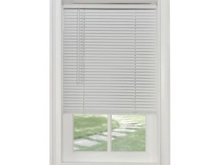 Achim Home Furnishings Cordless Morningstar 1  light Filtering Mini Blind  Width 37inch  Pearl White   Not Inspected