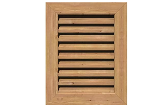 EKENA GVWVE18X2201RFUWR Vertical Gable Vent  23 W x 27 H  Rough Opening  18 W x 22 H  Western Red Cedar  Unfinished   Not Inspected
