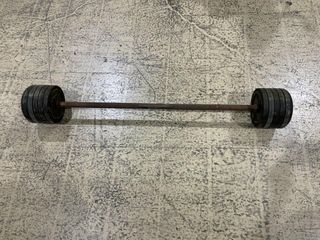 110lb Straight Rubber Barbell