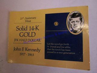 JFK MINATURE GOlD COIN