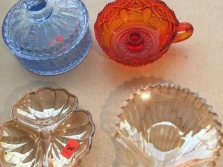 Glass candy dish and candle holder