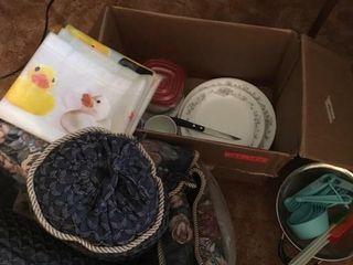 Pillows and kitchen supplies