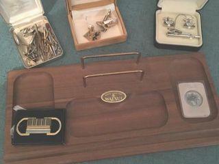 Walnut jewelry tray