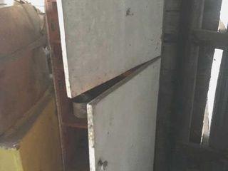 Two door wooden cabinet