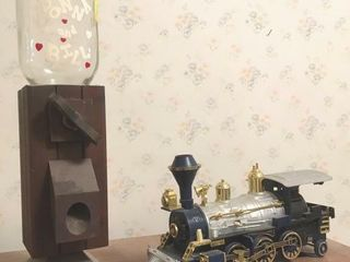 locomotive and candy dispenser