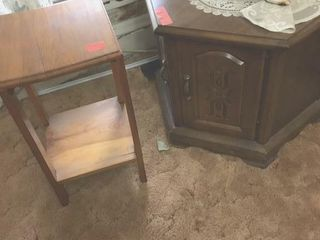lamp table with storage