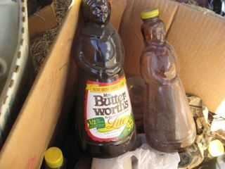 Plastic toys   Mrs  Butterworth syrup jugs