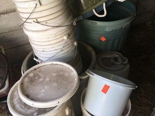Plastic buckets and tubs