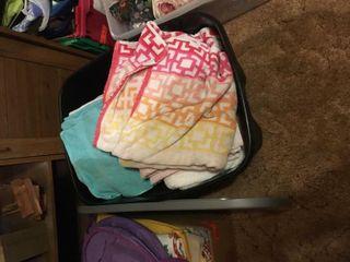 Tote full of towels