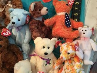 Small and medium Ty beanie babies