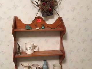 Knickknack shelf   contents