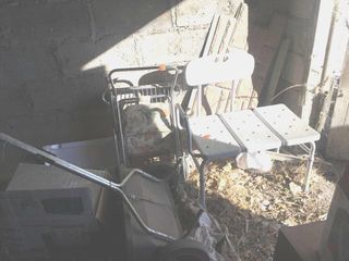 Shower chair   lawn spreader