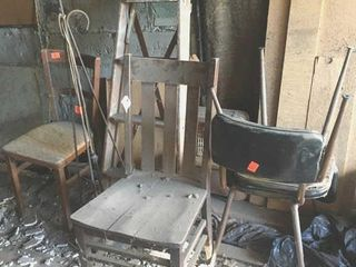 Chairs and wood
