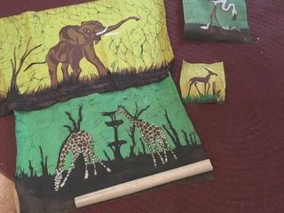 African animals on cloth