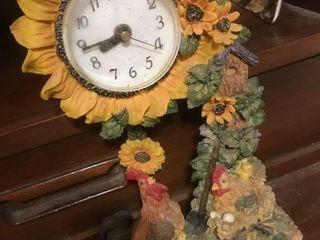 Clocks and glass fruit