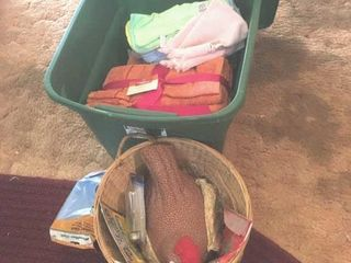 Towels and basket