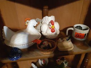 Shelf of chickens