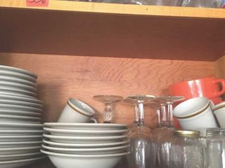 Stoneware and glassware