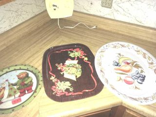 Holiday serving trays