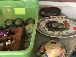 Turkey platter and shadow box