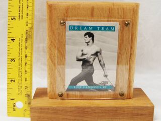 Wood Plaque  with a Jose Canseco RF Card  Dream Team