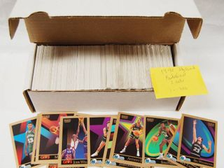 lot of Collectible 1990 Basketball Cards  with Box