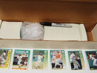 Collection of Baseball Cards w  Box See Photos