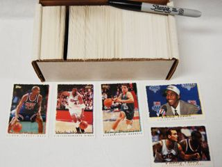 Collection of Basketball Cards  w Box  See Photos