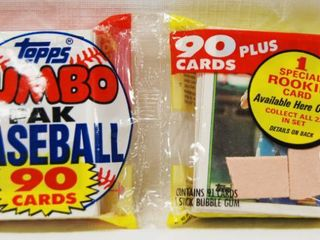2 Packs of Collectible Baseball Cards  w  Chewing Gum  In Original Packages