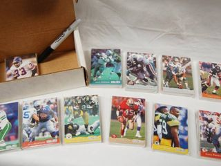 Collection of Football Cards  w Box  Still in Original Packaging