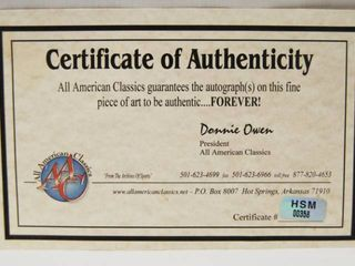 Certificate of Authenticity AAC  All American Classic  HSM 00358