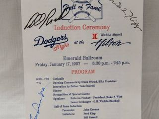 Memorabilia Pamphlet of KBA Winter Banquet 1996  with Multiple Baseball Player Signatures See Photos