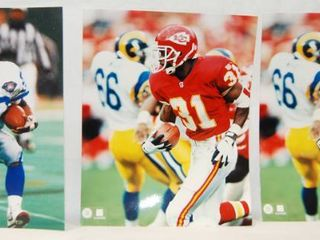 lot of 3  8X10 Photos of Football Players   2 are Kansas City Chiefs  See Photos