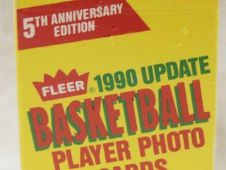 5th Anniversary Edition  1990 Basketball Payer Photo Cards  in Original Box and wrapped in Plastic
