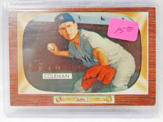1955 Bowman   99 Jerry Coleman New York Yankees   in Plastic Holder