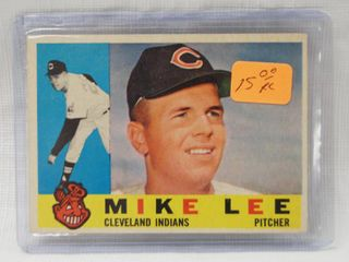 1960 Topps   521 Mike lee Cleveland Indians   in Plastic Holder
