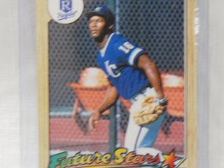 Bo Jackson 1987 Topps  Future Stars  Rookie Card  170 Kansas City Royals   in Plastic Holder