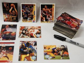 Collection of Basketball Cards and Football Cards   Celtics   Pro Basketball  Dolphins   Pro Football  etc  See Photos