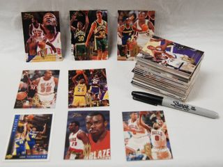Collection of Basketball Cards   Blazers  Heat  Bulls  etc Pro Basketball  See Photos