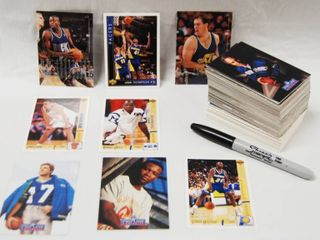 Collection of Basketball and Football Cards   Warriors  etc    Basketball   NFl Pro line  etc  Football  See Photos